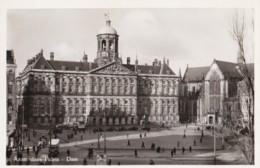 AQ60 Amsterdam, Paleis, Dam - Animated, Vintage Truck, Cars, RPPC - Amsterdam