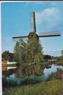 AQ60 Hollandse Molen, Kinderdijk - Man Fishing, Boat - Kinderdijk