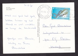 Spain: PPC Picture Postcard To Netherlands 1995, 1 Stamp, Cancel Can Pastilla, Mallorca Balearic Islands (traces Of Use) - 1931-Heute: 2. Rep. - ... Juan Carlos I