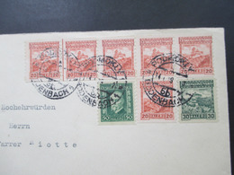 CSSR 1929 Rollendruck Senkr. Gezähnt Nr. 245 Waagerechter 5er Streifen! MiF An Hochwürden Pfarrer Riotte Königswartha - Tchécoslovaquie