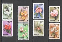 X334 1976 BHUTAN NATURE FLORA FLOWERS #638-45 1SET MNH - Végétaux