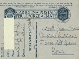 Franchigia Militare -  1941 -  Propaganda -  F 27/8   Viaggiata ( Come Da Foto ) - 1900-44 Victor Emmanuel III