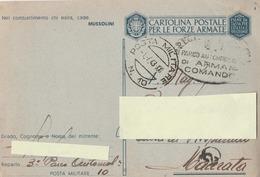 Franchigia Militare -  1941 -  Propaganda -  F 31/8   Viaggiata ( Come Da Foto ) - 1900-44 Victor Emmanuel III