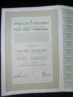 """Liege  """" S.A. Pieux Armes Frankignoul ( Part Sociale ) - Actions & Titres"""