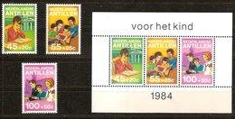 Antilles Néerlanddaises Antillen 1984 Yvertn° 729-731 Et Bloc 28  *** MNH Cote 13,75  € Surtaxe - Antilles