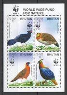 X340 2003 BHUTAN WWF FAUNA BIRDS #2421-24 1KB MNH - W.W.F.