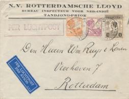 Nederlands Indië - 1934 - Fl. 1,45 Frankering Op Business LP-cover Van LBnr BATAVIA-Centrum/18 Naar Rotterdam / NL - Netherlands Indies