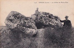 EPIEDS LE DOLMEN  DE PIERRE FENA       +  CACHET   MILITAIRE - Dolmen & Menhirs