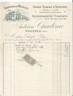 Belle Facture - Antoine Chadirac à Pouxeux  - Vosges  - 88  - - 1914 - - France