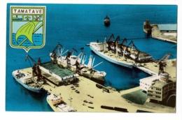 Tamatave - Vue Du Grand Port (quais De Déchargement Gare Maritime) Blason, Pas Circulé - Madagaskar