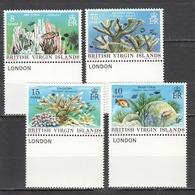 X350 1978 BRITISH VIRGIN ISLANDS FAUNA FISH & MARINE LIFE CORALS #333-6 SET MNH - Marine Life