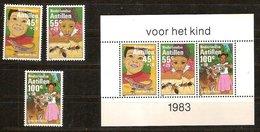 Antilles Néerlandaises Antillen 1983 Yvertn° 687-689 Et Bloc 26  *** MNH Cote 13,75  € Surtaxe - Antilles