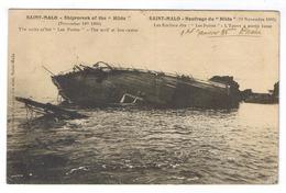 SAINT MALO  NAUFRAGE DU HILDA EN 1905 - Saint Malo