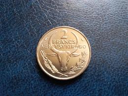 MADAGASCAR  2 Francs  1965   -- SPL -- - Madagaskar