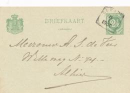 Curacao - 1900 - 2,5 Cent Cijfer, Briefkaart G9 - Lokaal Gebruikt Curacao - Niederländische Antillen, Curaçao, Aruba