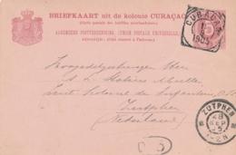 Curacao - 1905 - 5 Cent Cijfer, Briefkaart G11 - Van Curacao Naar Zutphen / Nederland - Niederländische Antillen, Curaçao, Aruba
