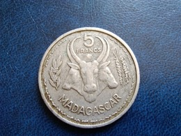 MADAGASCAR   5 Francs  1953   -- TB -- - Madagaskar