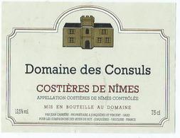 Etiquette Vin Domaine Des Consuls - Vin De Pays D'Oc