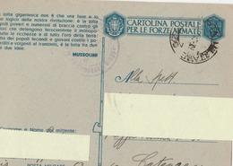 Franchigia Militare -  1941 -  Propaganda -  F 31/11   Viaggiata ( Come Da Foto ) - 1900-44 Victor Emmanuel III