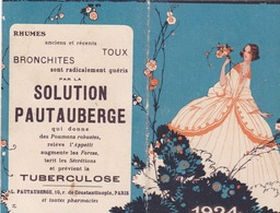 CALENDRIER PAUTAUBERGE 1924 - Big : 1921-40