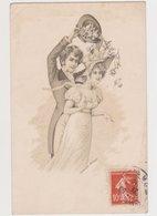 Carte Fantaisie Signée LUDWIG RAUH / Couple , Lancer De Fleurs - Künstlerkarten