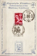 Postal History: Brazil Commemorative Card / Folhinha Comemorativa - Christianity