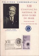 Postal History: Brazil Commemorative Card / Folhinha Comemorativa - Rotary, Lions Club