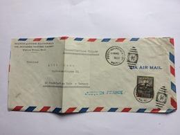 HAITI 1952 Air Mail Cover Port Au Prince To Frankfurt Germany With `Jusqu`en France` Cachet - Haïti
