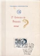 Postal History: Brazil Commemorative Card / Folhinha Comemorativa - Fishes