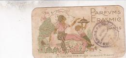 ART DECO / Ancienne Carte Parfumée, Parfums Erasmic à Paris, Verso Calendrier 1922 - Vintage (until 1960)