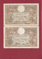 "100 Francs ""Luc Olivier Merson ""4 Billet -  26/02/31 - 22/12/32- 08/11/34-26/09/35 Qualité # Voir Scan Lot N °41 - 1871-1952 Circulated During XXth"