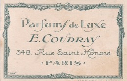 Carte Parfumée - E.COUDRAY 348 Rue Saint Honoré Paris - Parfums De Luxe - - Parfumkaarten