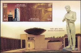 5X INDIA 2018 National Police Memorial; Miniature Sheet, MINT - India