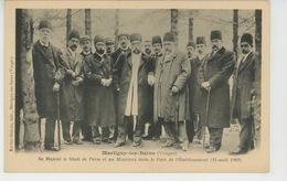 ASIE - IRAN - MARTIGNY LES BAINS - 1902 - Sa Majesté Le SHAH DE PERSE Et Ses Ministres Dans Le Parc De L'Etablissement - Iran