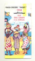 """BRUXELLES Exposition 1958 - Expo 58 - Dépliant Publicitaire  Voyage, Croisière """"Paquet """"  (b260) - Reclame"""