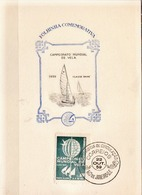 Postal History: Brazil Commemorative Card / Folhinha Comemorativa - Sailing