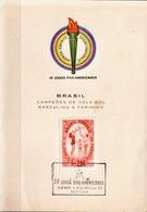 Postal History: Brazil Commemorative Card / Folhinha Comemorativa - Volleyball