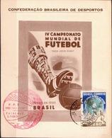 Postal History: Brazil Commemorative Card / Folhinha Comemorativa - Coppa Del Mondo