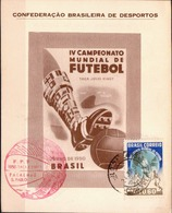 Postal History: Brazil Commemorative Card / Folhinha Comemorativa - World Cup