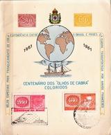 Postal History: Brazil Commemorative Card / Folhinha Comemorativa - Stamps On Stamps