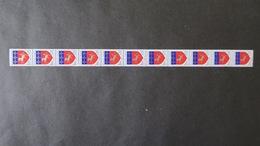 Roulette Du N° 1510 Blason St Lo   (N° Rouge Au Verso) Neuf * (charnière Aux Extrémités ) Roulette N° 64 - Coil Stamps