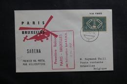 LUXEMBOURG - Enveloppe Pour Bruxelles En 1957 Par 1er Vol Par Hélicoptère  Paris / Bruxelles - L 41461 - Luxemburg