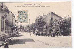 Haute-Saône - Fougerolles - Rue De La Gare La Section Des Vétérans Des Armées De Terre Et De Mer Se Rendant Au Monument - Other Municipalities