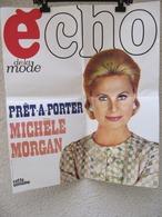 ECHO DE LA MODE - Affiche Publicitaire 60 X 70 Cm - Michèle Morgan - Affiches