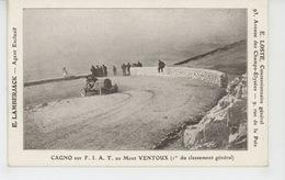 """COURSE AUTOMOBILE - """"CAGNOT """" Sur FIAT Au Mont Ventoux (Pub Concessionnaire Général E. LOSTE à PARIS ) - Andere"""