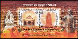 5X INDIA 2019 100 Years Of Jallianwala Bagh Massacre; Miniature Sheet, MINT - India