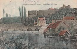 Carte Postale Ancienne De La Sarthe - Fresnay Sur Sarthe - Ies Remparts Et Le Pont - Altri Comuni