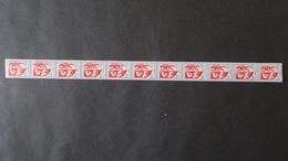 Roulette Du N° 1468 Blason De Auch  (N° Rouge Au Verso) Neuf * (charnière Aux Extrémités ) Roulette N° 60 - Roulettes