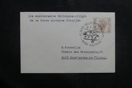 BELGIQUE - Enveloppe Souvenir Hélicoptère Flight De La Force Aérienne De Koksijde En 1971 - L 41466 - Belgium