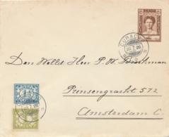 Curacao - 1929 - 12,5 Cent Wilhelmina Met SS Bolivar, Envelop G25 + 2,5 Cent Van KB Curacao Naar Amsterdam / NL - Niederländische Antillen, Curaçao, Aruba